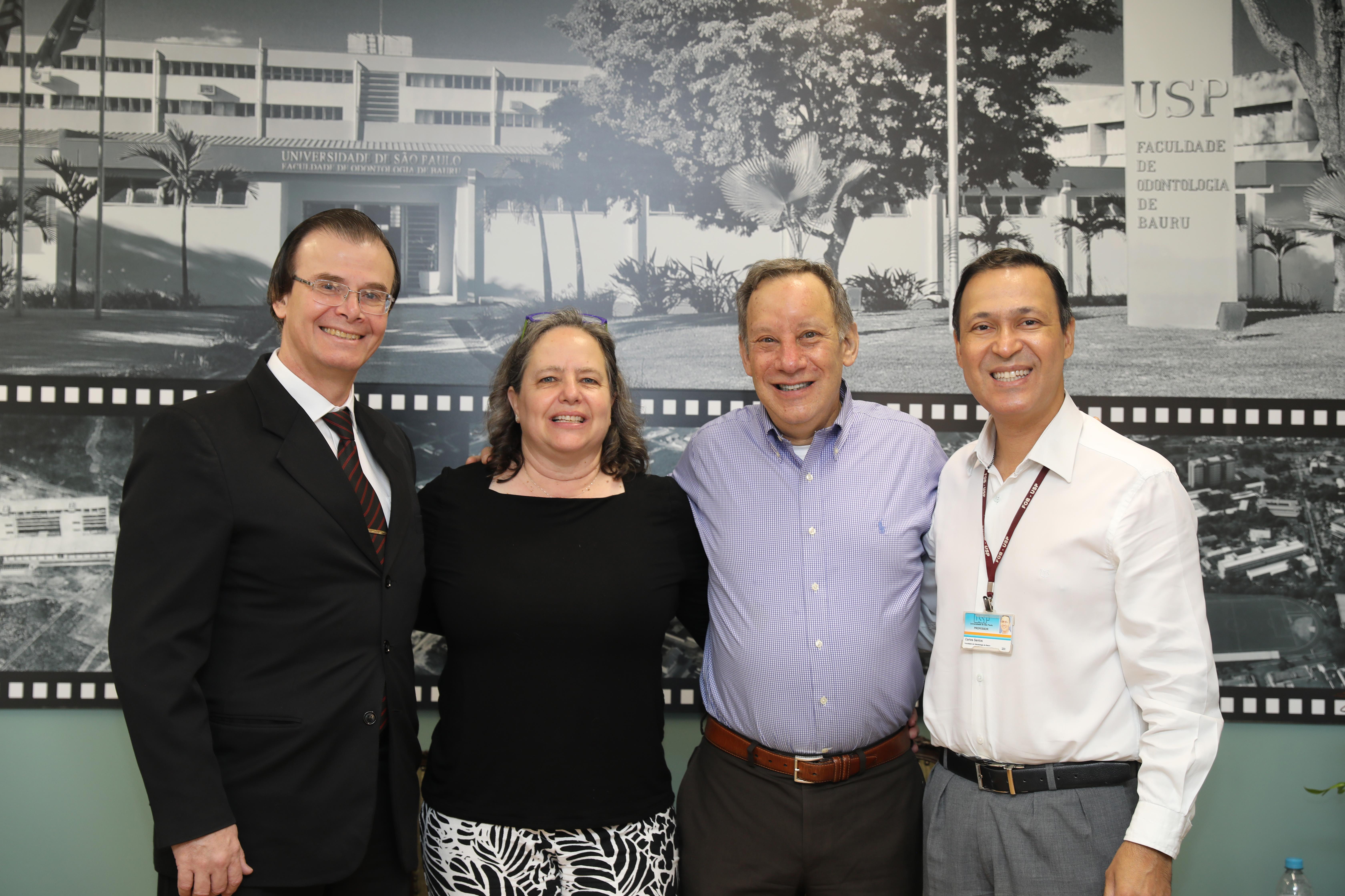 Profs Guilherme, Marjorie, Andrew e Carlos